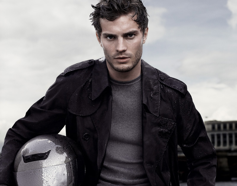 Jamie Doran on a motorcycle for Aquascutum advert photographed by Mario Sorrenti 2, Communications‭ ‬&‭ ‬Marketing