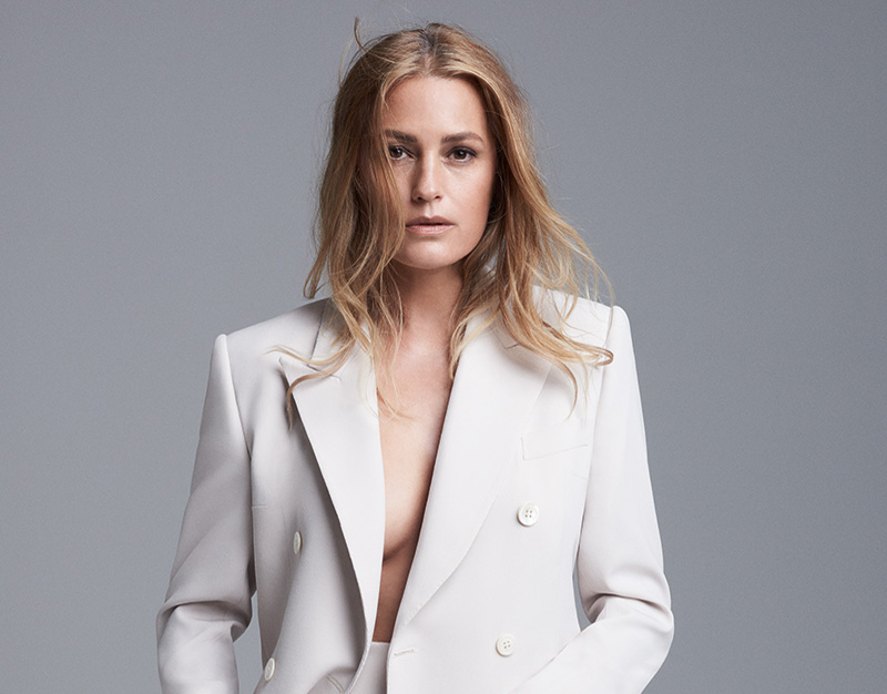 Yasmin Le Bon shot by Roger Rich wearing white trouser suit 2, Communications‭ ‬&‭ ‬Marketing